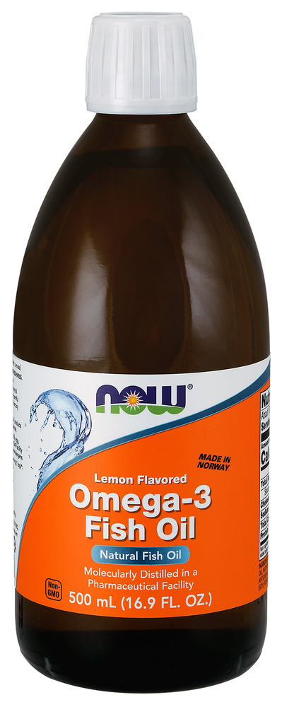 Omega 3 fish oil lemon now foods 500 ml liquid for What is omega 3 fish oil good for