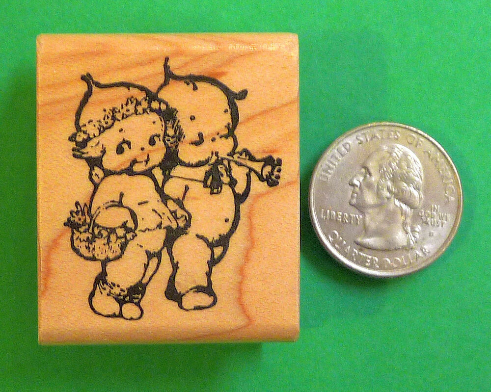 Kewpie Twins, Wood Mounted Rubber Stamp | eBay
