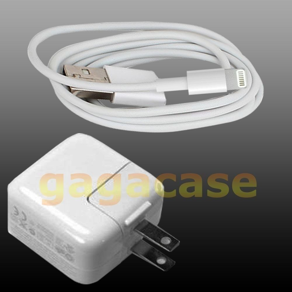 12W Power Adapter Charger w/ USB Cable iPad 4 iPad mini Air,iPhone 5S 5C 6 Plus | eBay
