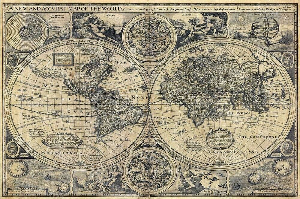 Impertinent image with regard to vintage world map printable