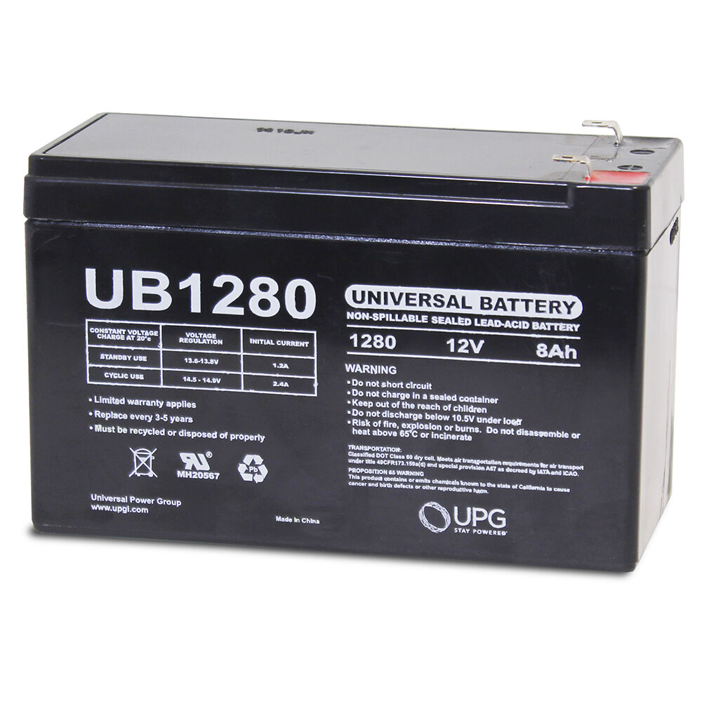 Upg 12v 8ah Scooter Bike Battery Replaces 7ah Enduring 6