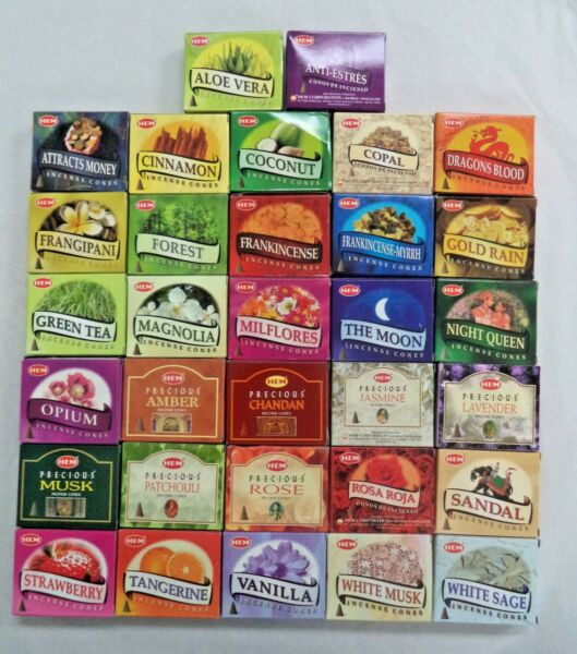 HEM Incense Cones Pack of 10 Cones - You pick your Scent and Amount!