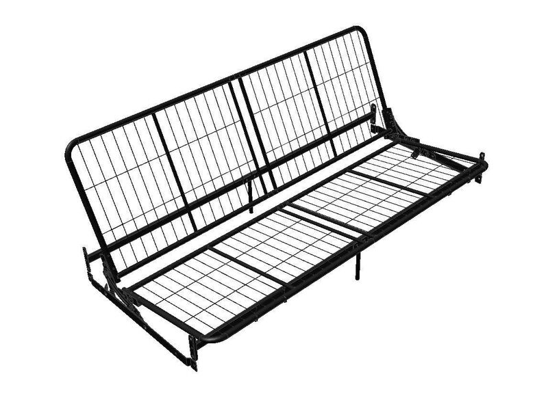 Dorel Home Products Black Metal Futon Frame 3151096 New