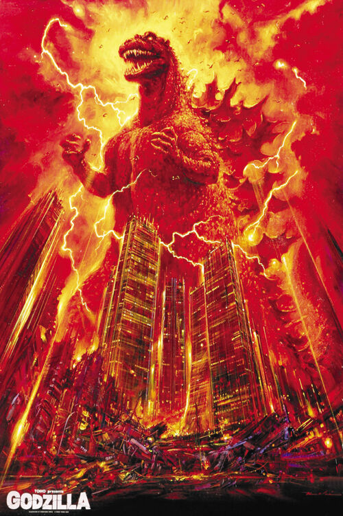 Godzilla gojira 1984 horror cult movie poster print ebay for Buy art posters online