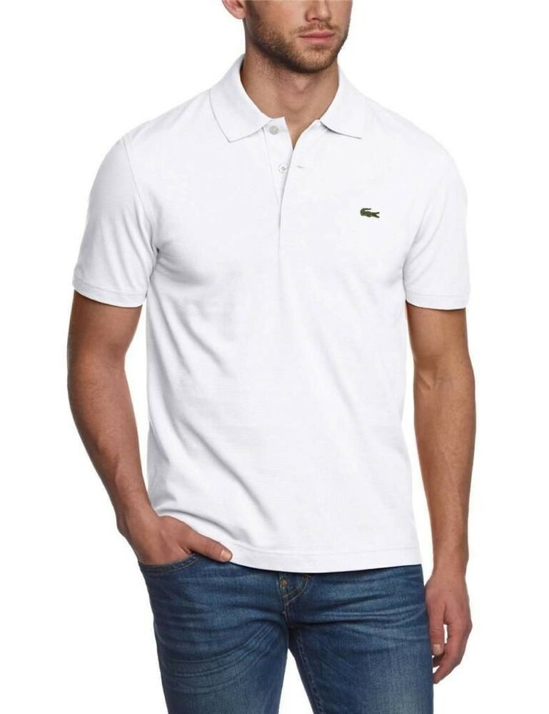 new lacoste sport men 39 s athletic cotton polo t shirt blanc white yh7680 51001 t6 ebay. Black Bedroom Furniture Sets. Home Design Ideas