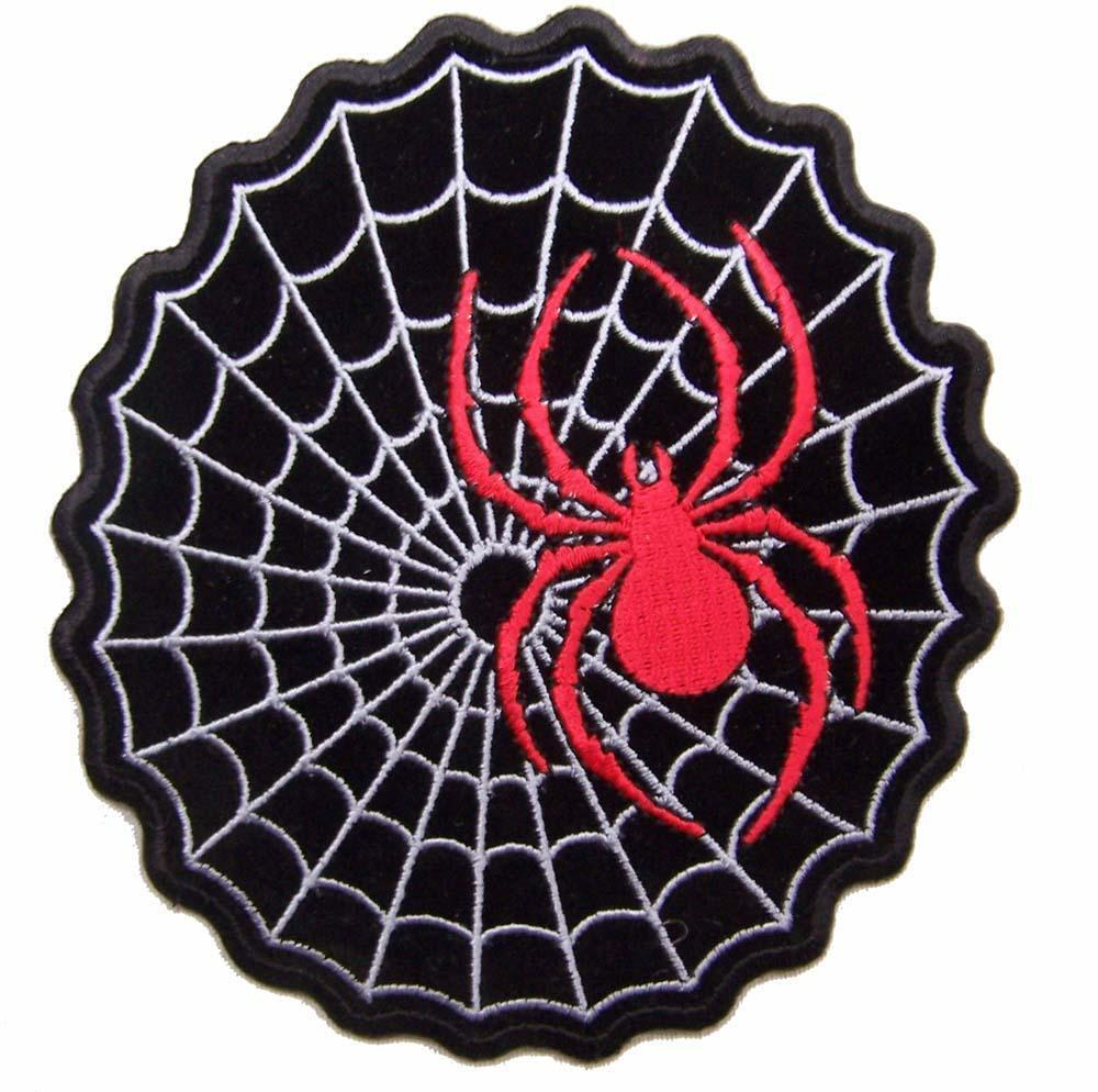 Biker Vest Patches >> RED SPIDER ON WEB PATCH P4090 NEW jacket BIKER EMBROIDERIED BIKEnew patches new | eBay