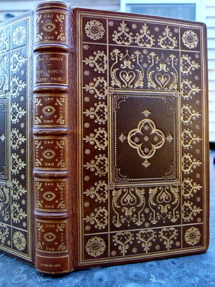 Beautiful fine binding antique book lady lindsay signed for Beautiful binding