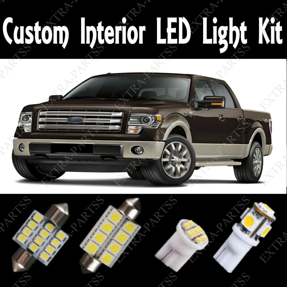13 Pcs Super White Led Light Bulbs Interior Package Kit For 2004 2012 Ford F150 Ebay