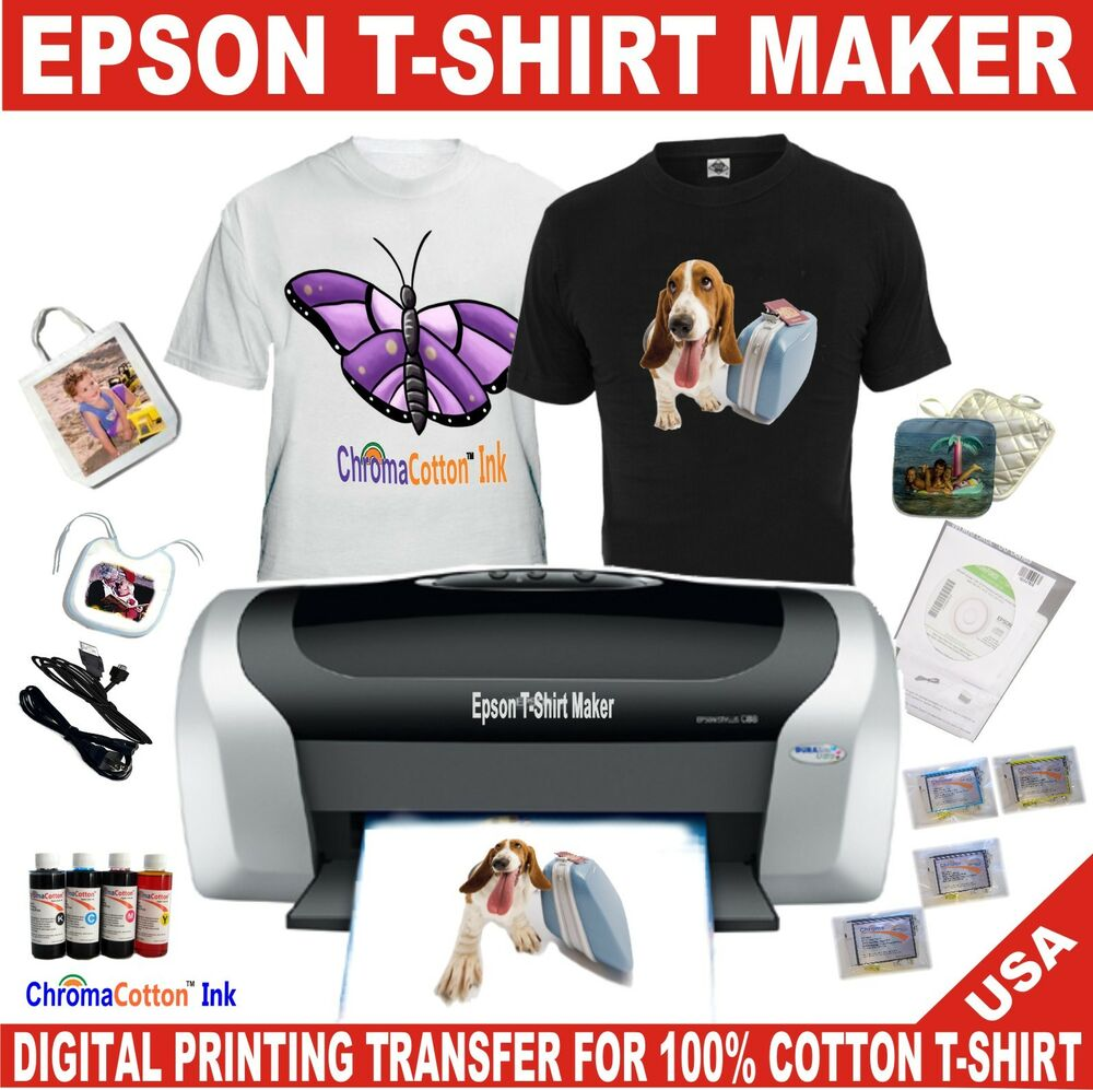 1 epson t shirt maker printer transfer 100 cotton ink for Printing t shirt transfers