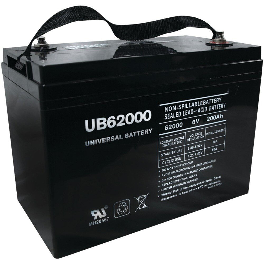 upg ub62000 6v 200ah battery for champion m83chp06v27 golf. Black Bedroom Furniture Sets. Home Design Ideas