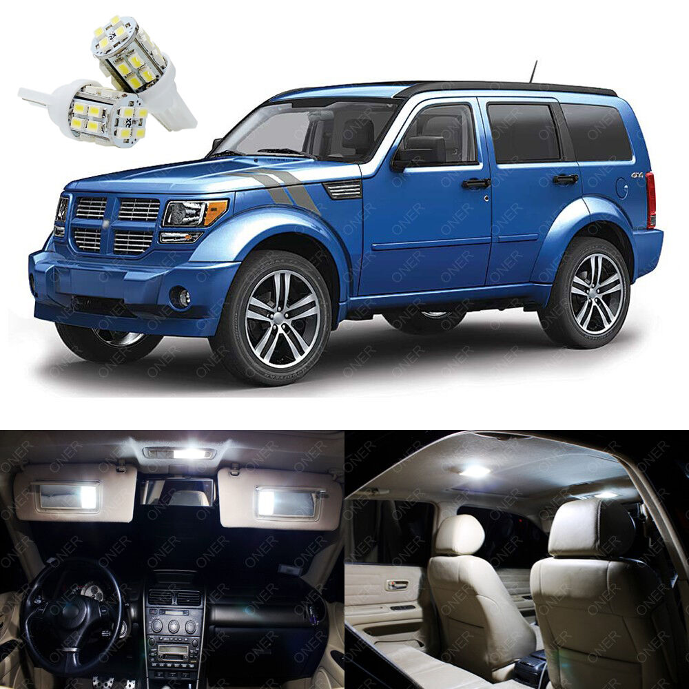 9 X Xenon White Led Interior Light Package Kit For Dodge Nitro 2007 2012 Ebay