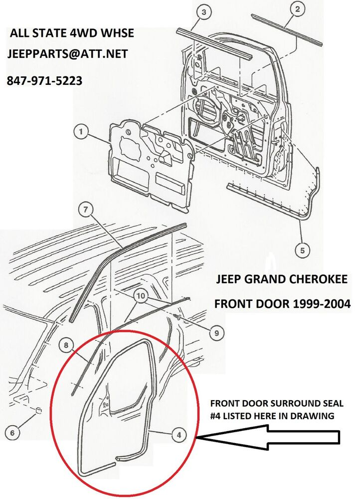 new right passenger side front door seal 1999