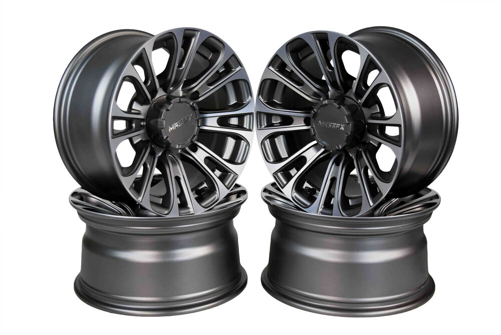 Set Of 4 Raceline Mamba Black Beadlock Rims Polaris Rzr
