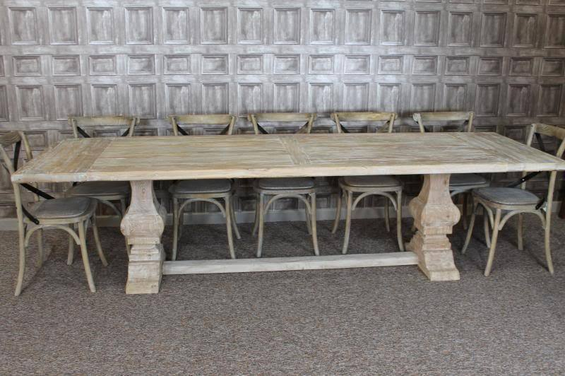 LARGE 3M DISTRESSED LIMED ELM DINING TABLE WHITE WASHED  : s l1000 from www.ebay.co.uk size 800 x 532 jpeg 70kB