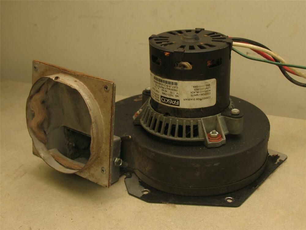 Fasco 7021 7986 draft inducer blower motor 21d340096p04 ebay for Fasco motors and blowers