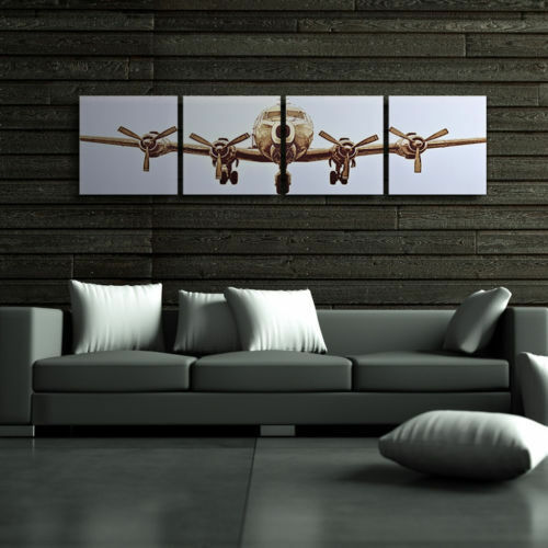 pictures wall art the airplane canvas art home decor modern pictures no frame ebay. Black Bedroom Furniture Sets. Home Design Ideas