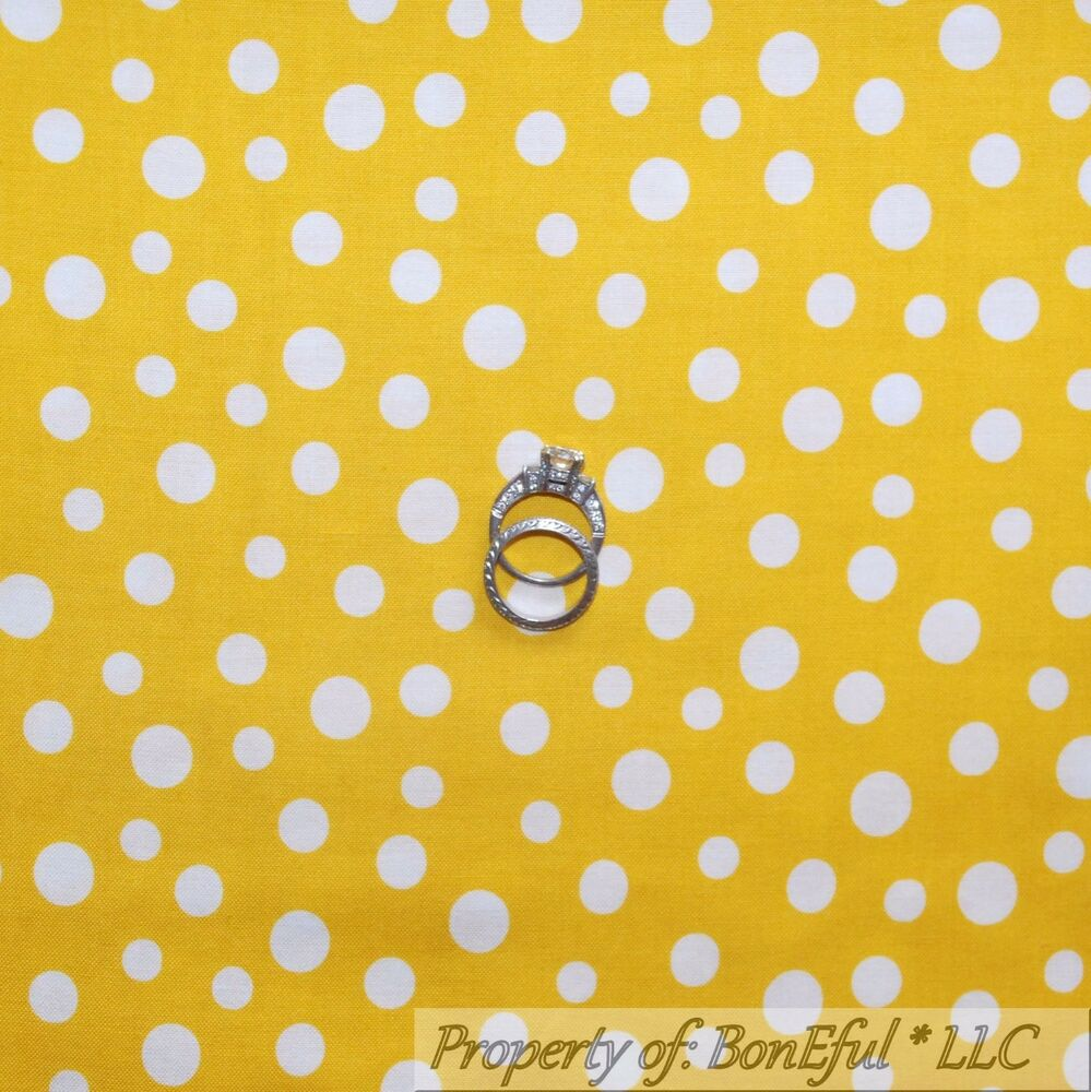 Boneful fabric fq cotton quilt yellow white bright gold for Yellow baby fabric