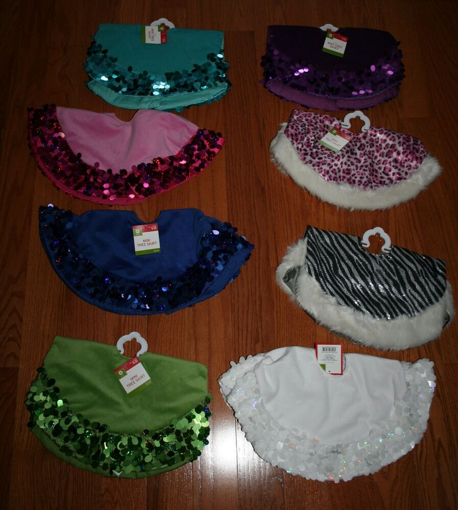 New Target Mini Tree Skirt ~Various Solid Colors or Animal ...