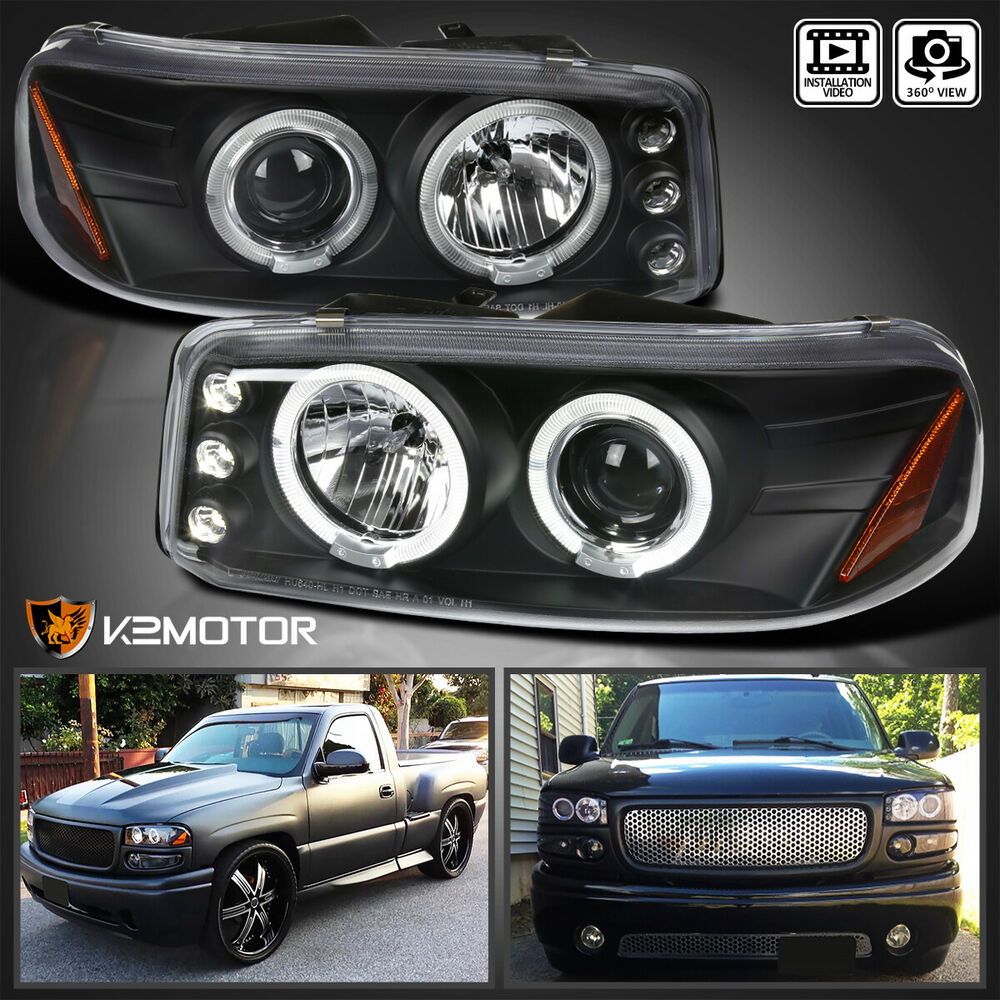 1999 2006 Gmc Sierra Denali Yukon Xl Led Halo Projector
