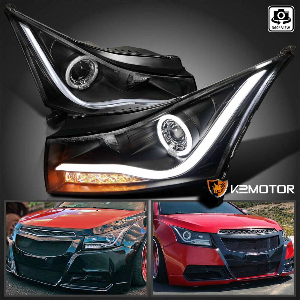 Chevy Cruze 2011-2014 Light Bar LED Tail Lights - Red Clear  |2014 Chevy Cruze Lights