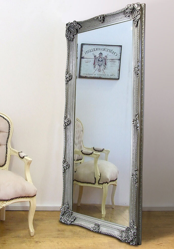Abbey Large Full Length Shabby Chic Vintage Leaner Wall