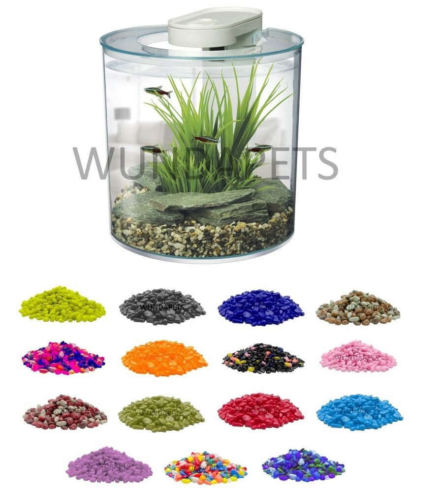 Hagen marina fish tank aquarium gravel 2kg decoration for Fish tank pebbles