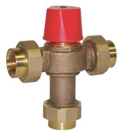 Industrial Thermostatic Mixing Valve: WATTS LF1170-M2-UT Thermostatic Mixing Valve, 1 In.