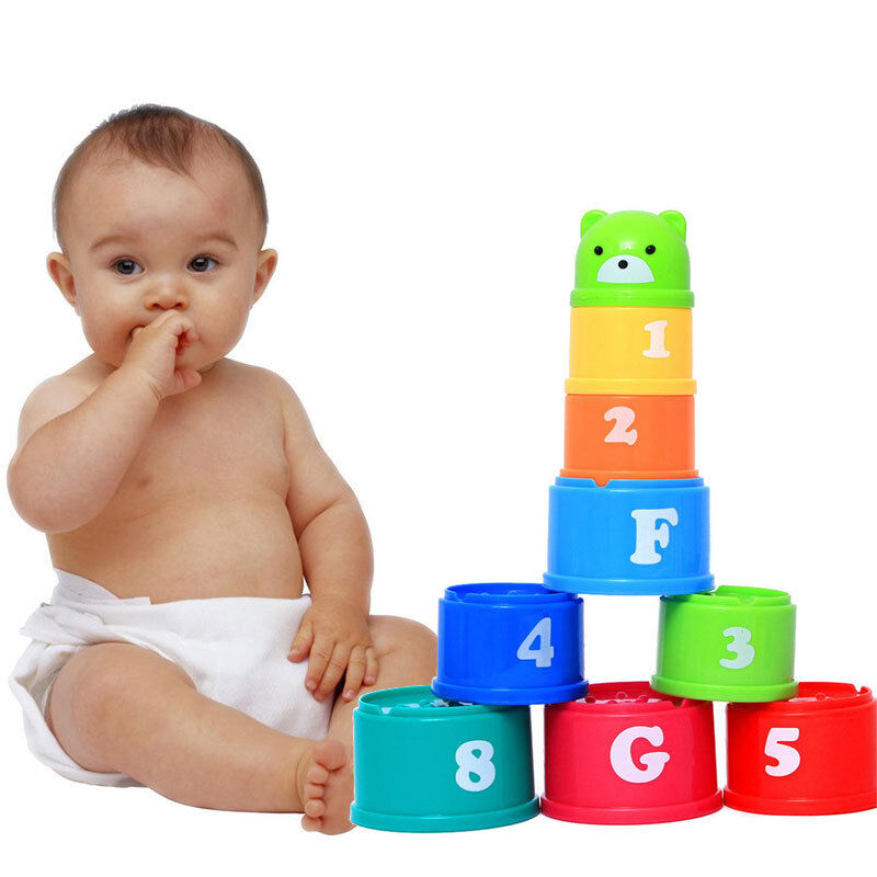 New Baby Toys : New baby toddler learning stacking cups bath activity toy