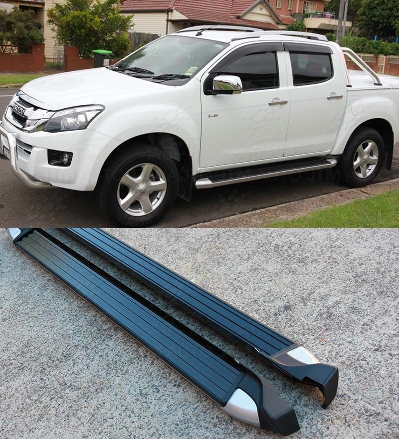 2018 Ford Ranger Single Cab >> Running Boards Side Steps to suit Isuzu D-max Dmax / Holden Colorado 2012-2018 | eBay