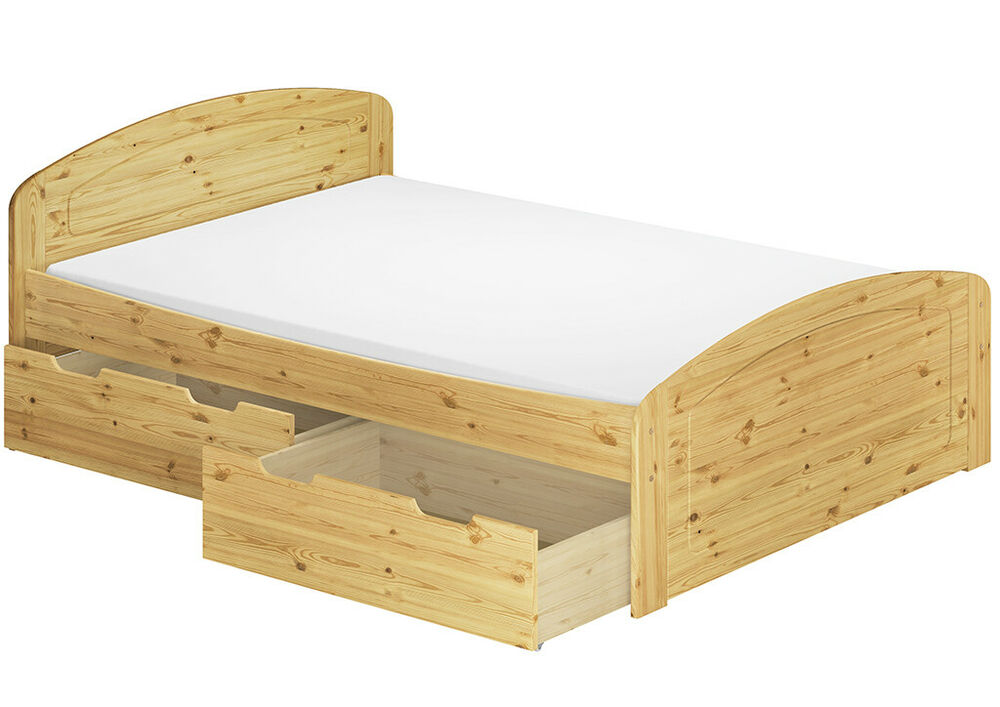 doppelbett bettkasten rollrost matratze 180x200 seniorenbett kiefer m ebay. Black Bedroom Furniture Sets. Home Design Ideas