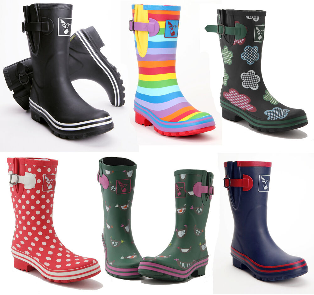 evercreatures multi patterned wellies