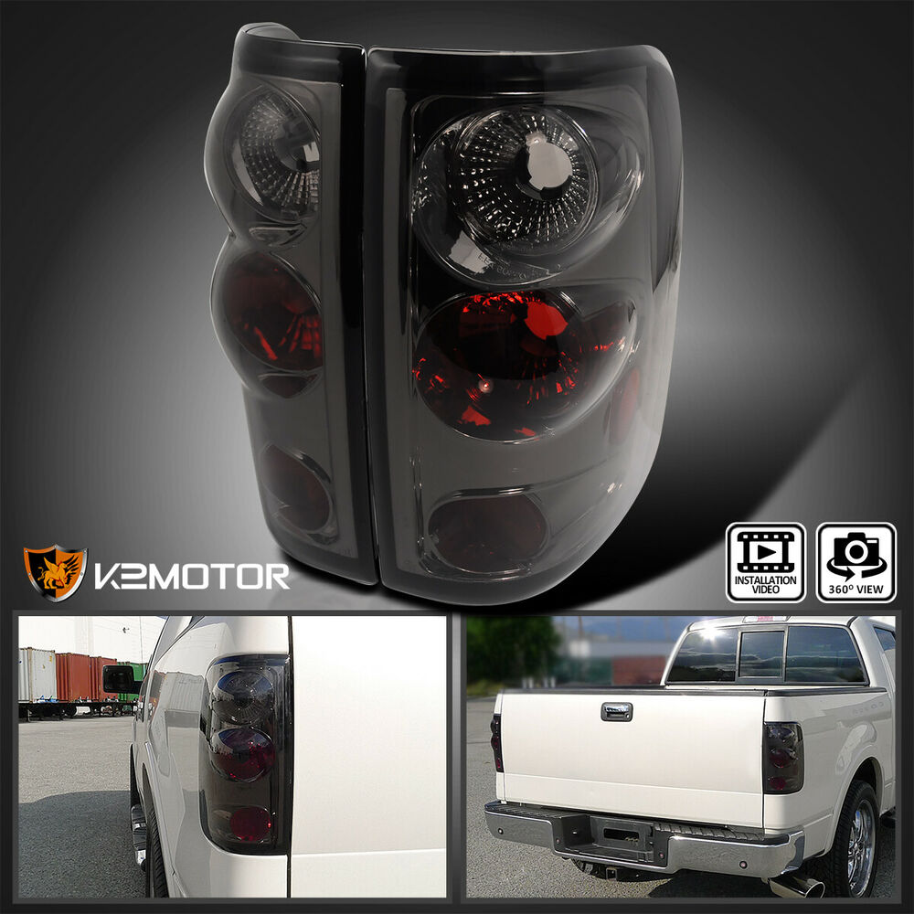 2004 2008 ford f150 rear tail lights smoke altezza pair ebay. Black Bedroom Furniture Sets. Home Design Ideas