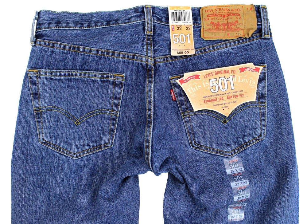 NEW NWT LEVI'S 501 MEN'S ORIGINAL FIT STRAIGHT LEG JEANS