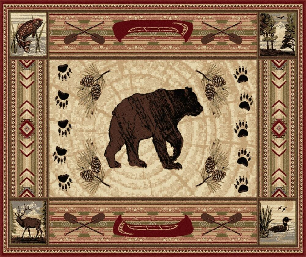 Rustic Black Bear Paw Prints Image Computer Mouse Pad 9 X