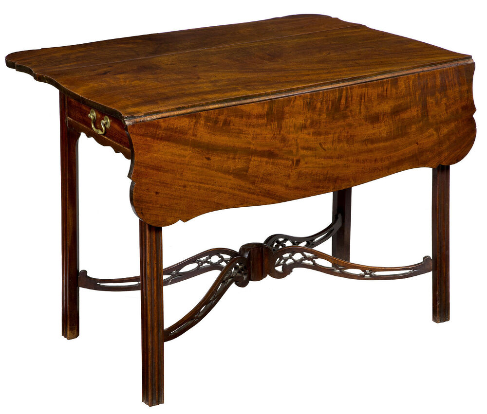 Swc mahogany porringer top chippendale pembroke table for England table