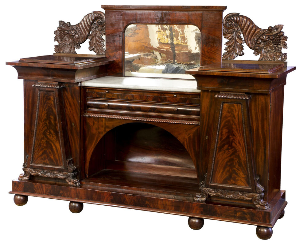 SWC-Classical Carved Mahogany Sideboard, Baltimore, c.1820 ...