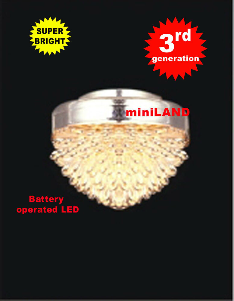 ceiling chrome super bright battery operated led lamp