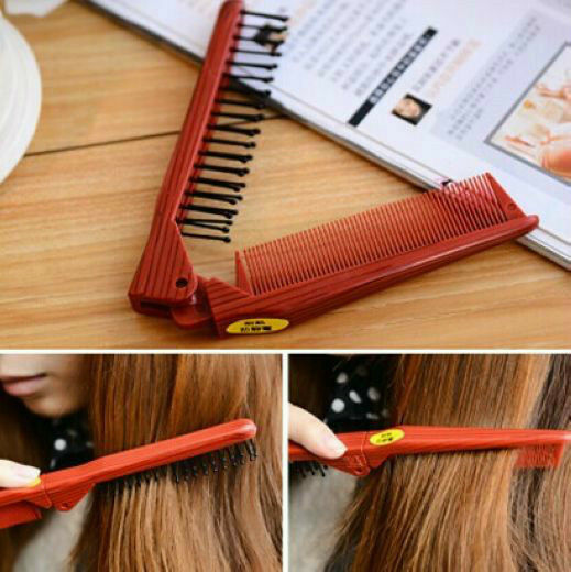 folding hair style fashion folding pocket style hair comb compact portable 6527