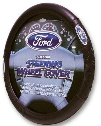 Ford Truck Triton Car Powerstroke Steering Wheel Cover Leather Grip Protector Ebay