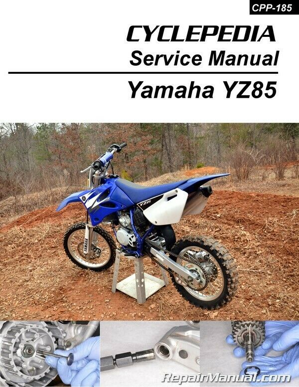 yamaha yz85 motorcycle service manual cyclepedia 800 426. Black Bedroom Furniture Sets. Home Design Ideas