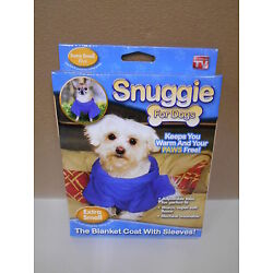 Lot of 2 New Blue Snuggie For Dogs, Size Xtra Small Snuggie Blanket Coat