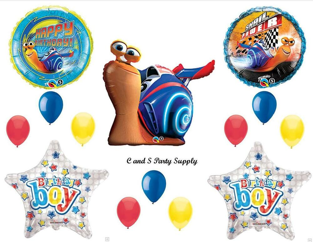 Turbo movie happy birthday boy party balloons decorations for Balloon decoration kits
