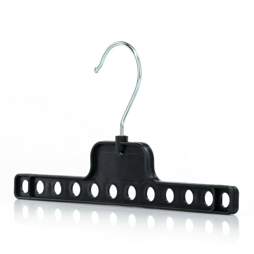 Black Plastic Space Saving Closet Clothes Coat Hangers