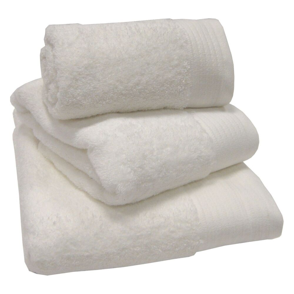 Bathroom Towels And Mats: White 100% Egyptian Cotton 600gsm Thick Heavyweight Bath