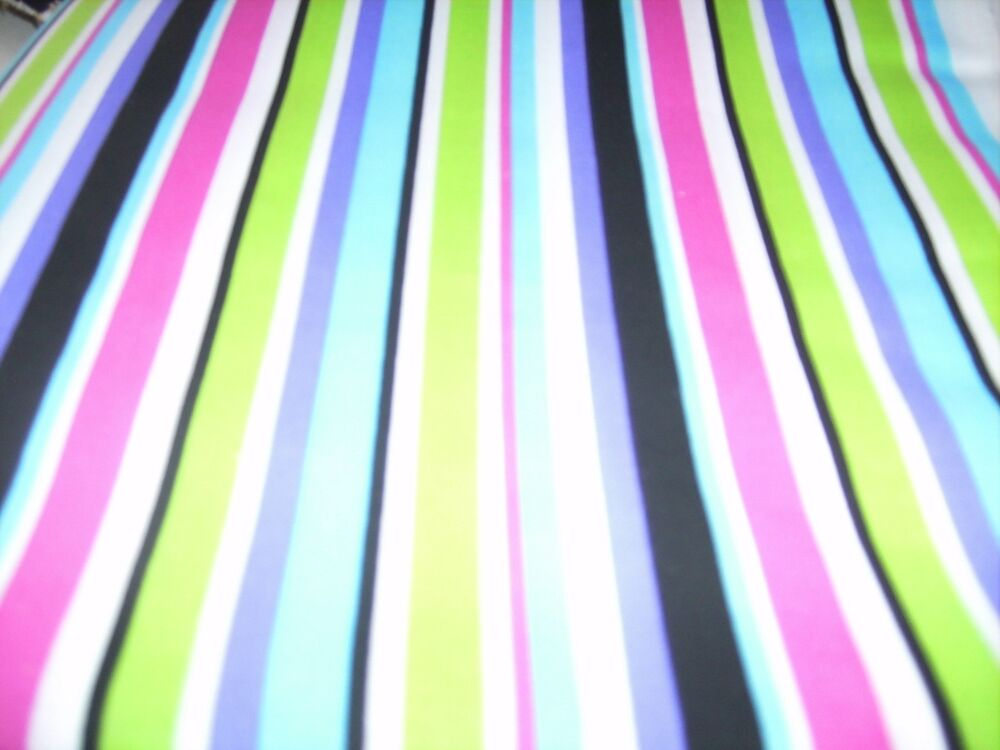 Stripe Blue Green And White: Valance Pink Green Black Blue And White Stripe