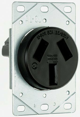 P  U0026 S 3890 Flush Outlet 50 Amp 125 250