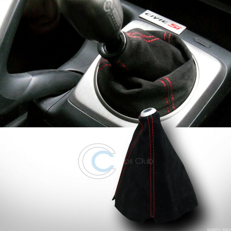 Universal Red Stitch Black Suede Shifter Shift Gear Boot