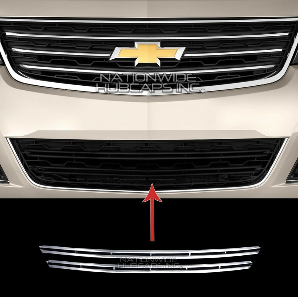 2013 2015 Chevy Traverse Lt Chrome Snap On Grille Overlay