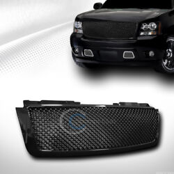Kyпить Fit 07-14 Chevy Tahoe/Suburban/Avalanche Glossy Blk Mesh Front Bumper Grille ABS на еВаy.соm
