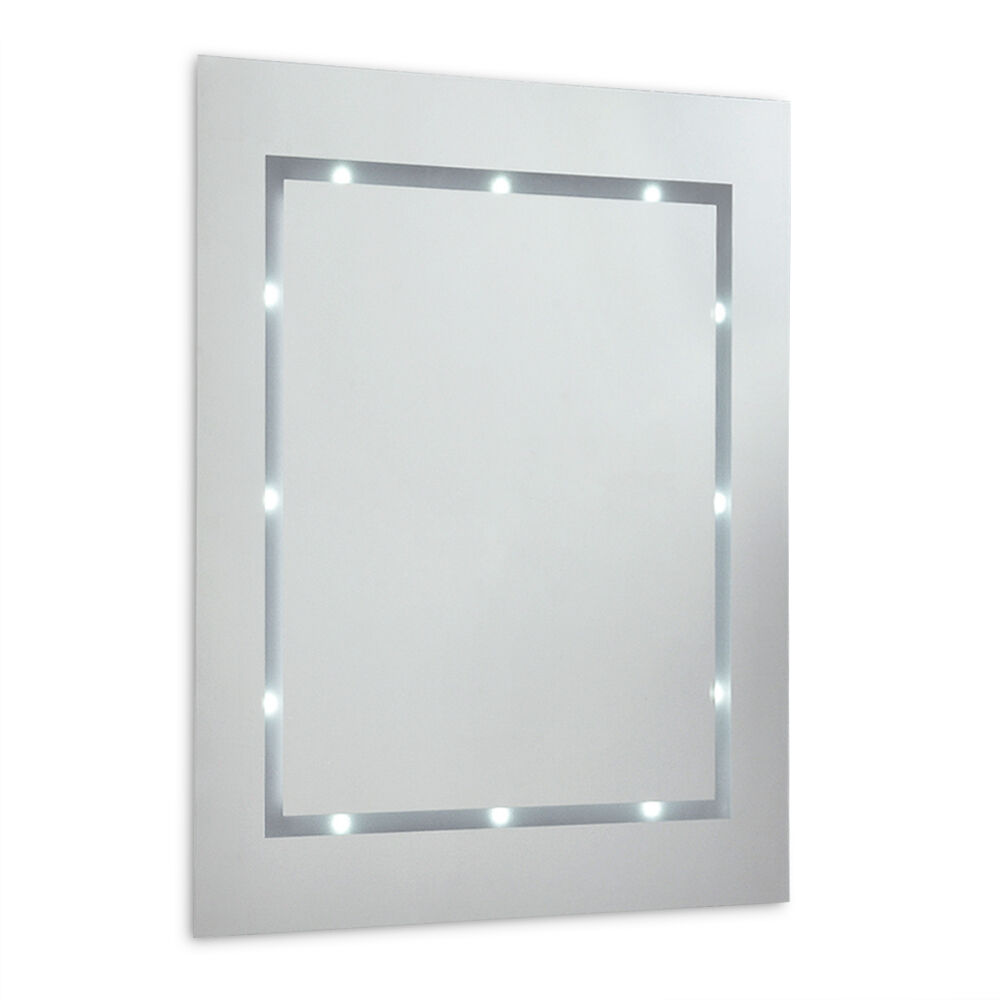 battery powered led bathroom mirror contemporary battery operated illuminated cool white led 22613